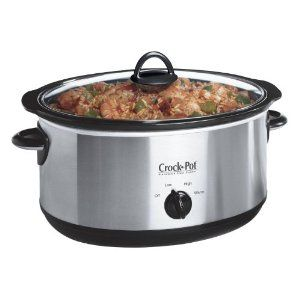 Crock-Pot Chrome Slow Cooker, 6.5 Litre, Brushed Chrome: Amazon.co.uk: Kitchen & Home