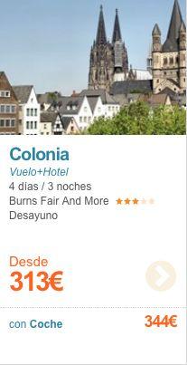 Puente de Mayo en Colonia desde 313€ Desayuno incluido
