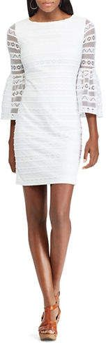Chaps Lace Bell-Sleeve Dress