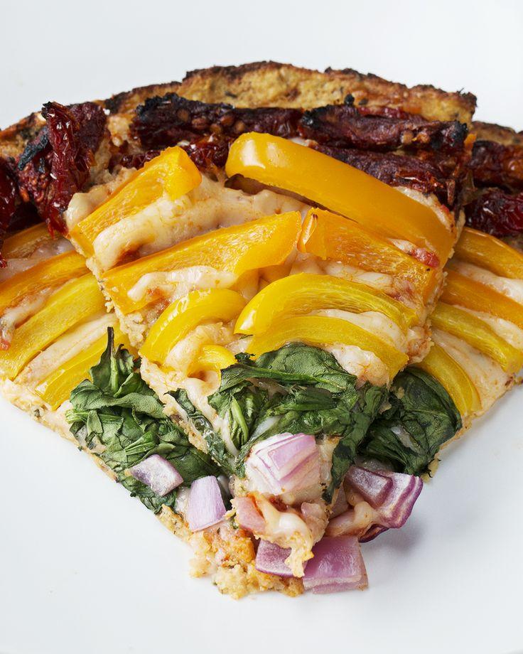 "Rainbow Veggie Cauliflower ""Pizza"""