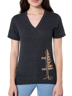 Womens V-Neck Tree Tee // snowboarding apparel