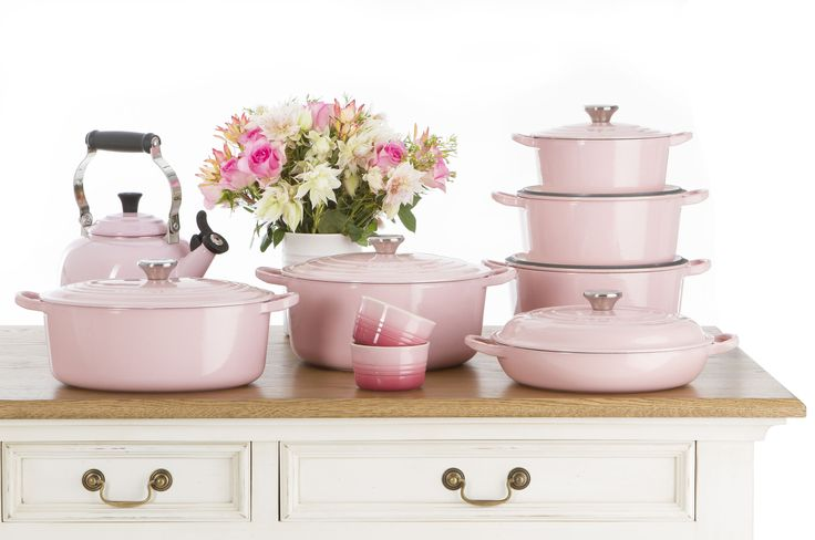 New Le Creuset Chiffon Pink