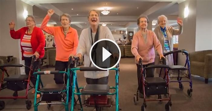These Seniors Wanted to Prove They've Still Got the Moves. You Will Love Their Happy Dance! #video