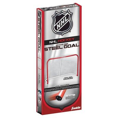 Franklin Sports NHL Official Steel Goal - 72, Red/White