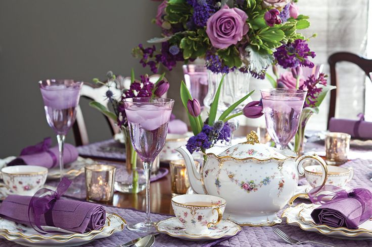 The rich purples of autumn provide an elegant backdrop for our fall-themed tea menu, which even includes touches of the hue in some of the dishes.