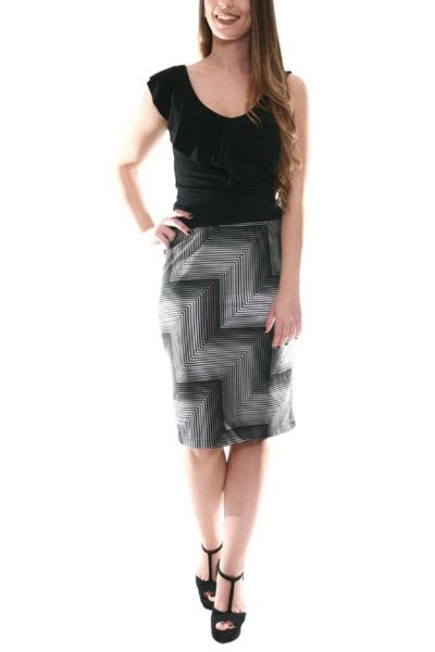 conDiva Metallic Gray Pencil Skirt | Tango Clothes  #pencilskirt #tangoskirt #tangoclothes #milongaoutfit