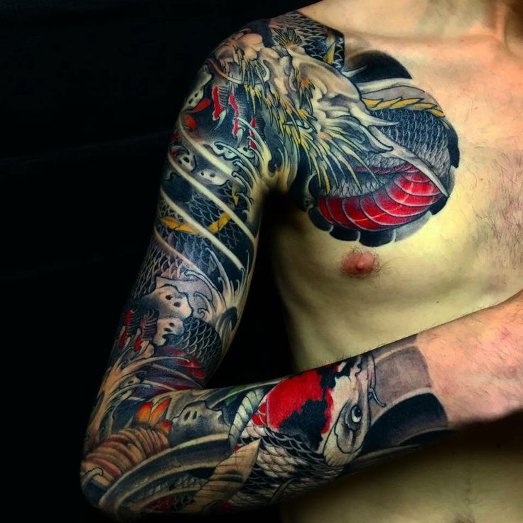 17 best images about dragon chest plate on pinterest for Dragon fish tattoo