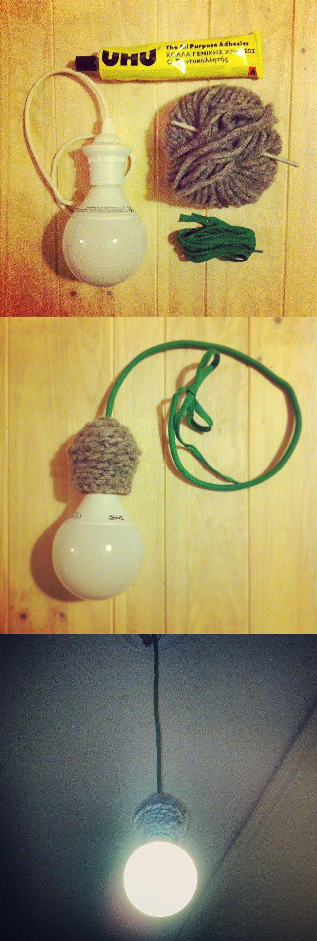 DIY Wool lamp