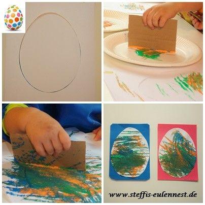 Basteln für Kinder, Basteln, Kita, Kindergarten, U3,Ü3, Farben, Malen, Farben streichen, Motorik
