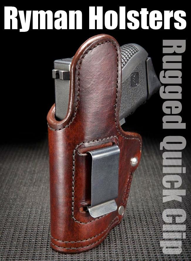 Suede Lined Leather OWB Holster with Wide Steel Belt Clip