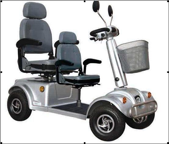 До и после двойной скутер старости электрический четыре колеса Электрический автомобиль четыре транспортных средств электрический скутер-Самокат
