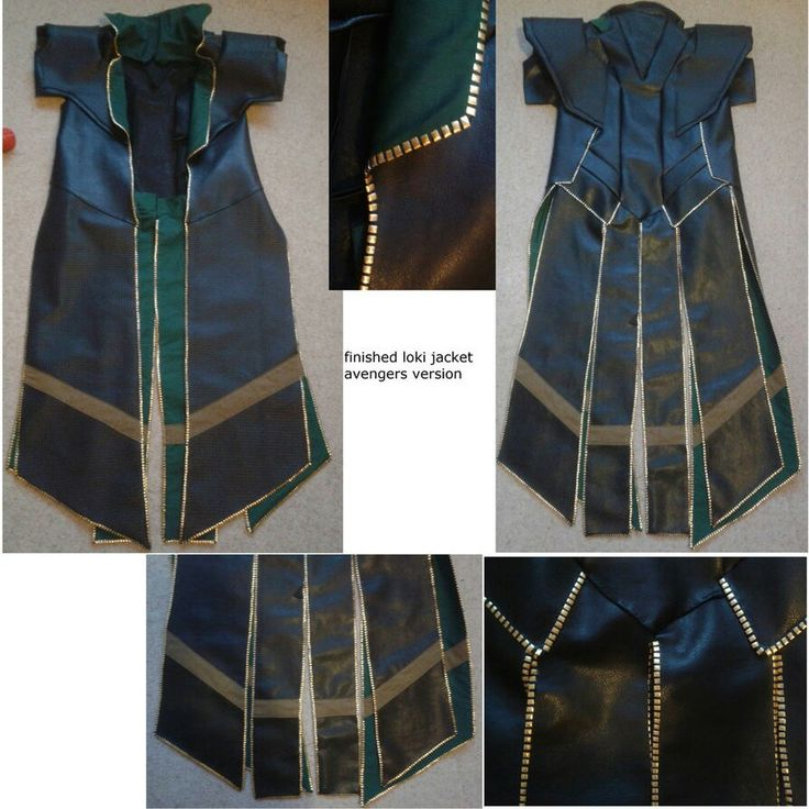 Jacket detail loki costume why can't I be as talented as this person?