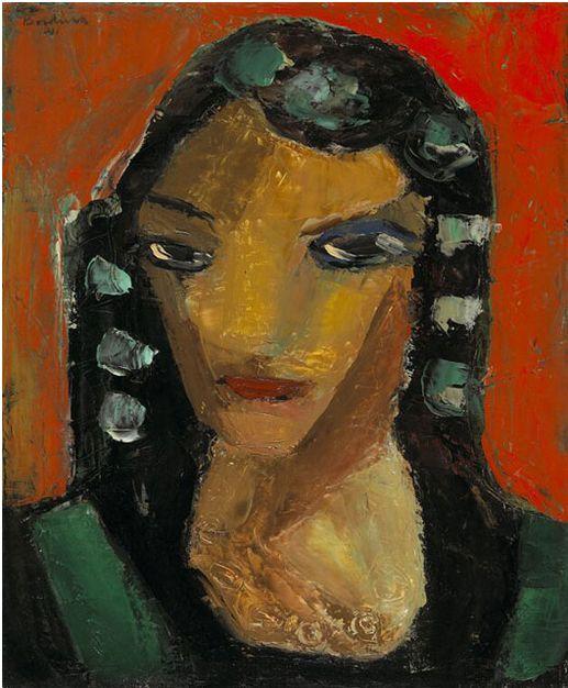 Painting by y Paul-Émile Borduas (1905-1960), 1941, La Tahitienne, oil on canvas.