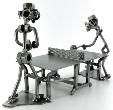 bull+dozer+made+out+of+nuts+and+bolts | Table Tennis Nuts and Bolts Figures - Nuts & Bolts Figures - Sports ...