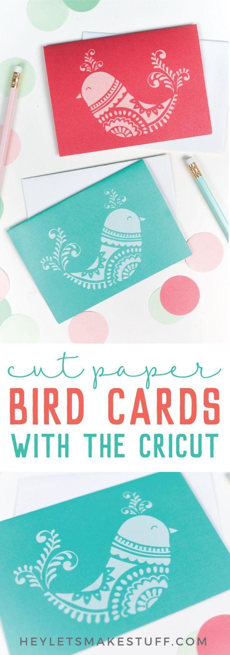 diy bird cards with the cricut  diy christmas cards