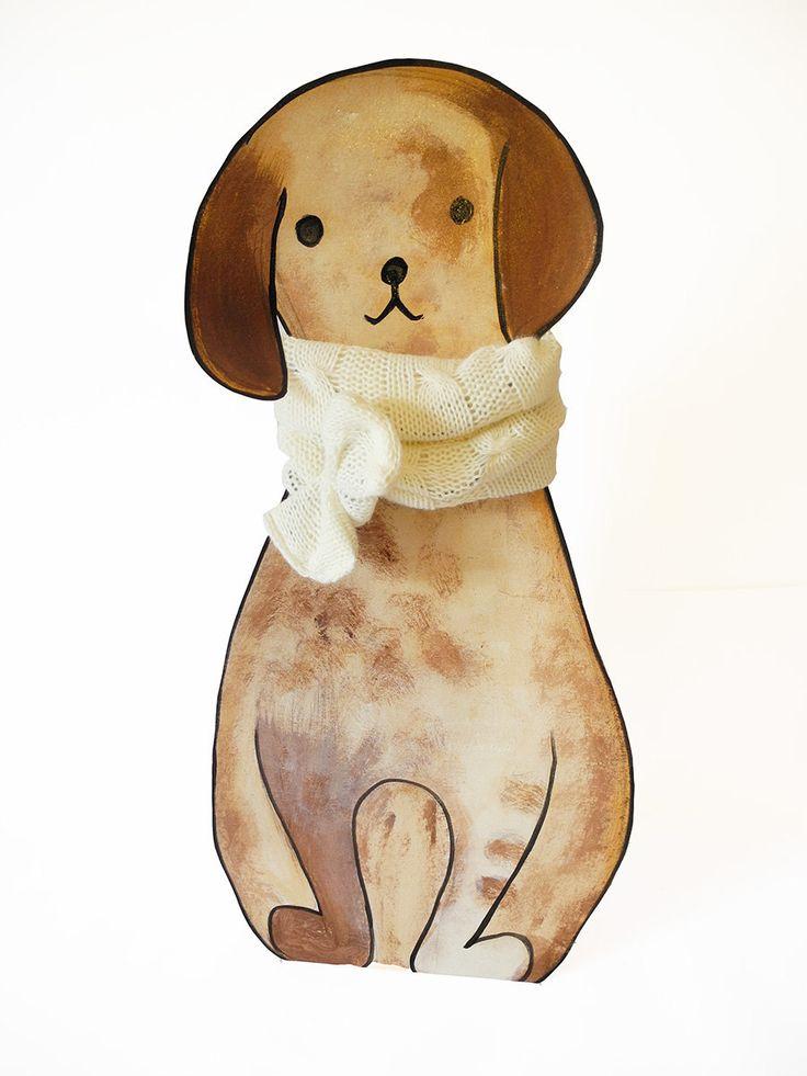 Sciarpa in maglia di lana semi rigida facile da mettere per cane di IDEAartiSpontanee su Etsy