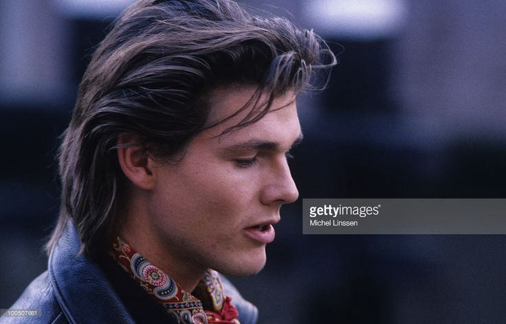 Singer Morten Harket of Norwegian group A-ha in 1990.