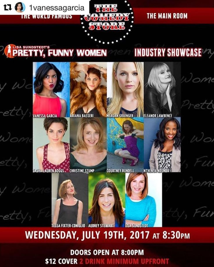 #Repost @1vanessagarcia  Here it is....I'm performing stand up at the world famous comedy store July 19th 8pm in the main room with Pretty Funny Women!  Bring your friends your ex boyfriends your ex wife your current hook ups your therapist your drinking buddy! It's gonna be a good time! @thecomedystore @prettyfunnywomen  #femalecomics #standupcomedy #comedystore