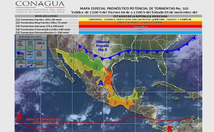 Sistema Frontal 5, mantendrá temporal de lluvias intensas en Oaxaca