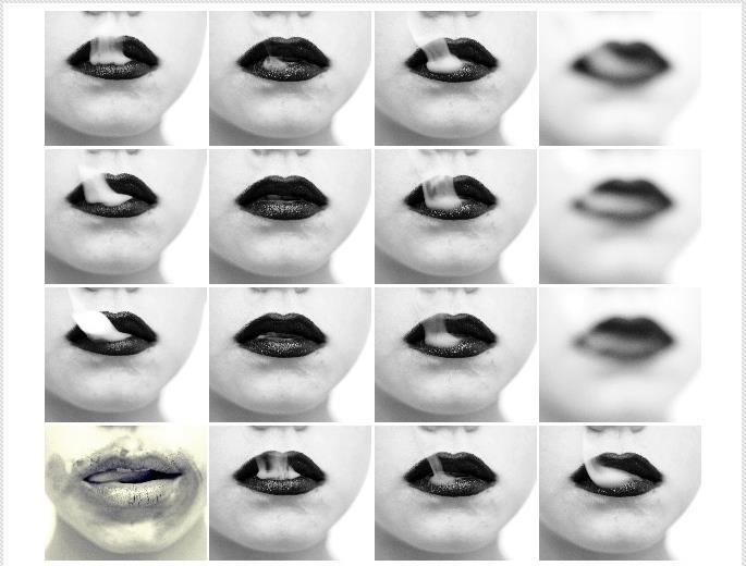 Lips like [an] ashtray