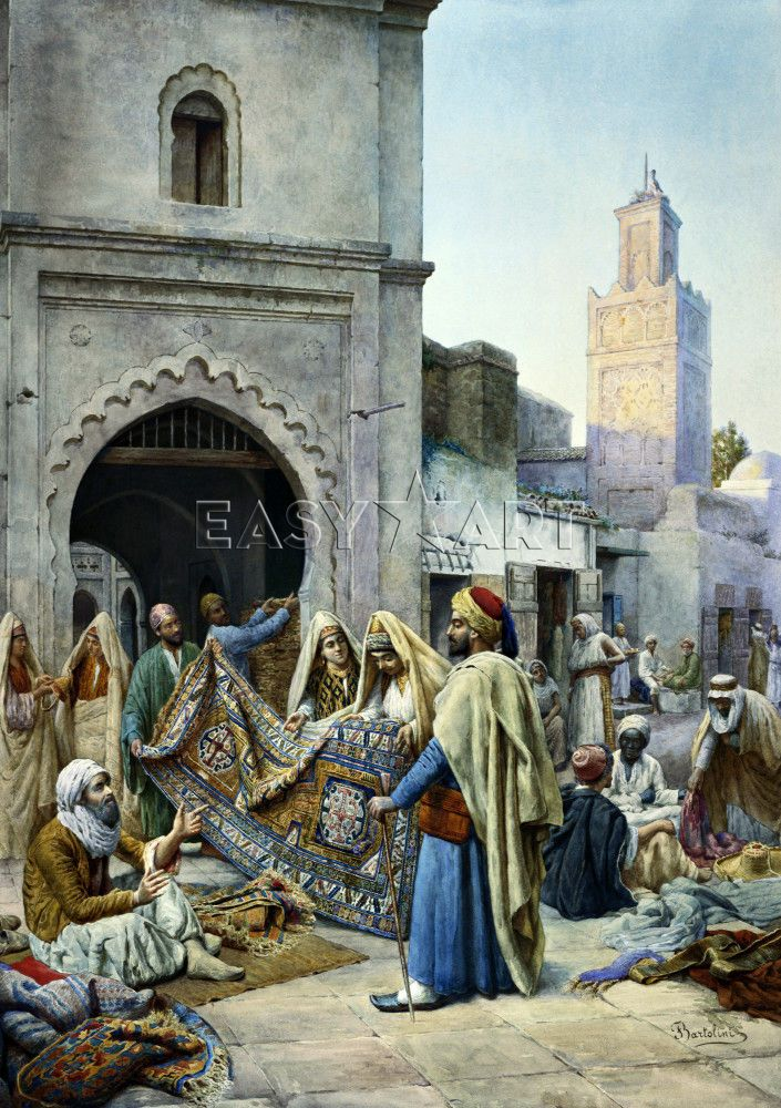 The Rug Merchant Art Print By Frederico Bartolini Easyart.com