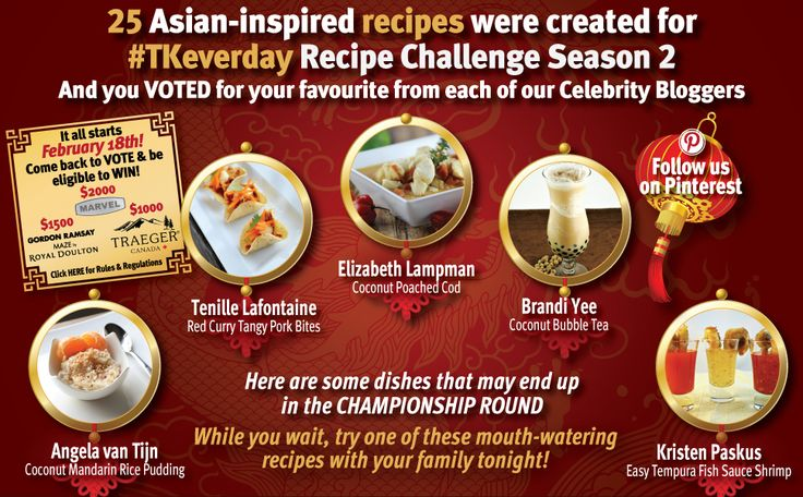 25 Asian-inspired #recipes were created for #TKeveryday Recipe Challenge Season 2 and you VOTED for your favourite from each of our celebrity bloggers!