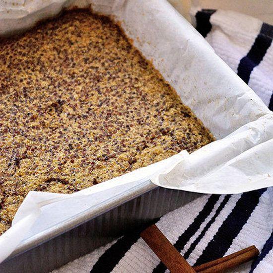 Cinnamon quinoa breakfast bake: Quinoa Bake, Soy Milk, Healthy Breakfast, Granola Bar, Food, Cinnamon Quinoa, Maple Syrup, Quinoa Recipes