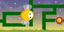 Juegos online y gratis de laberintos para niños: abejita y flor
