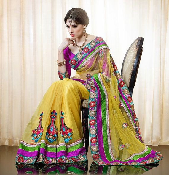 Bollywood Designer Saree Indian Party Wear by JTInternational