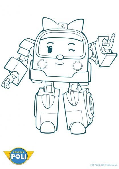 Les 25 meilleures id es de la cat gorie coloriage robot - Jeux de robocar poli gratuit ...
