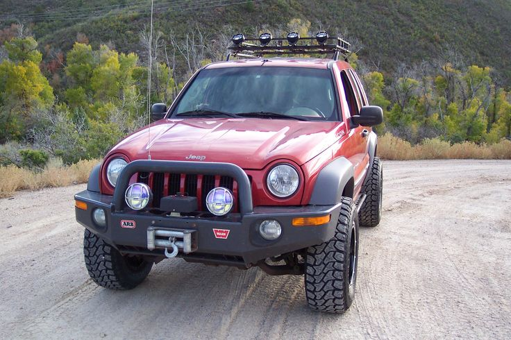 Nice lifted KJ sporting an ARB Bull Bar Jeep KJ 2002