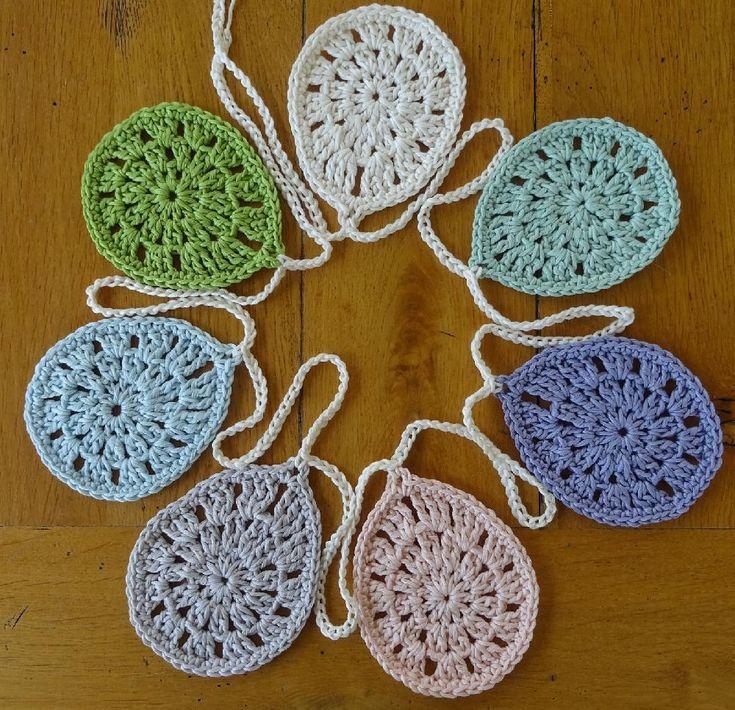 easter crochet: Easter Egg bunting by Agrarian Artisan on the LoveCrochet blog