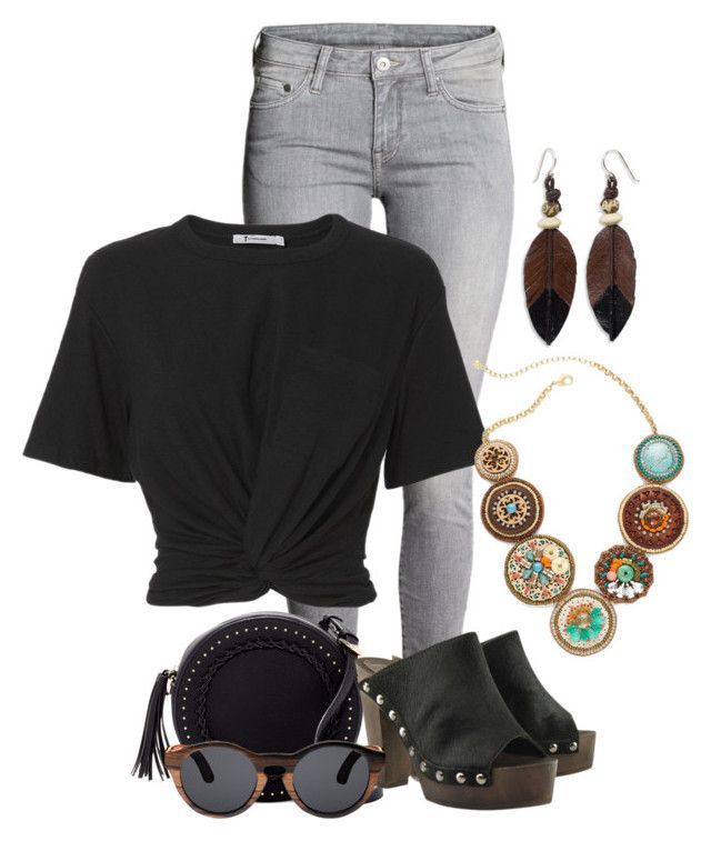 """""""Wood You Stay Forever? - Casual"""" by crazy4orcas ❤ liked on Polyvore featuring H&M, Urban Expressions, T By Alexander Wang, Finlay & Co., Chico's and NOVICA"""