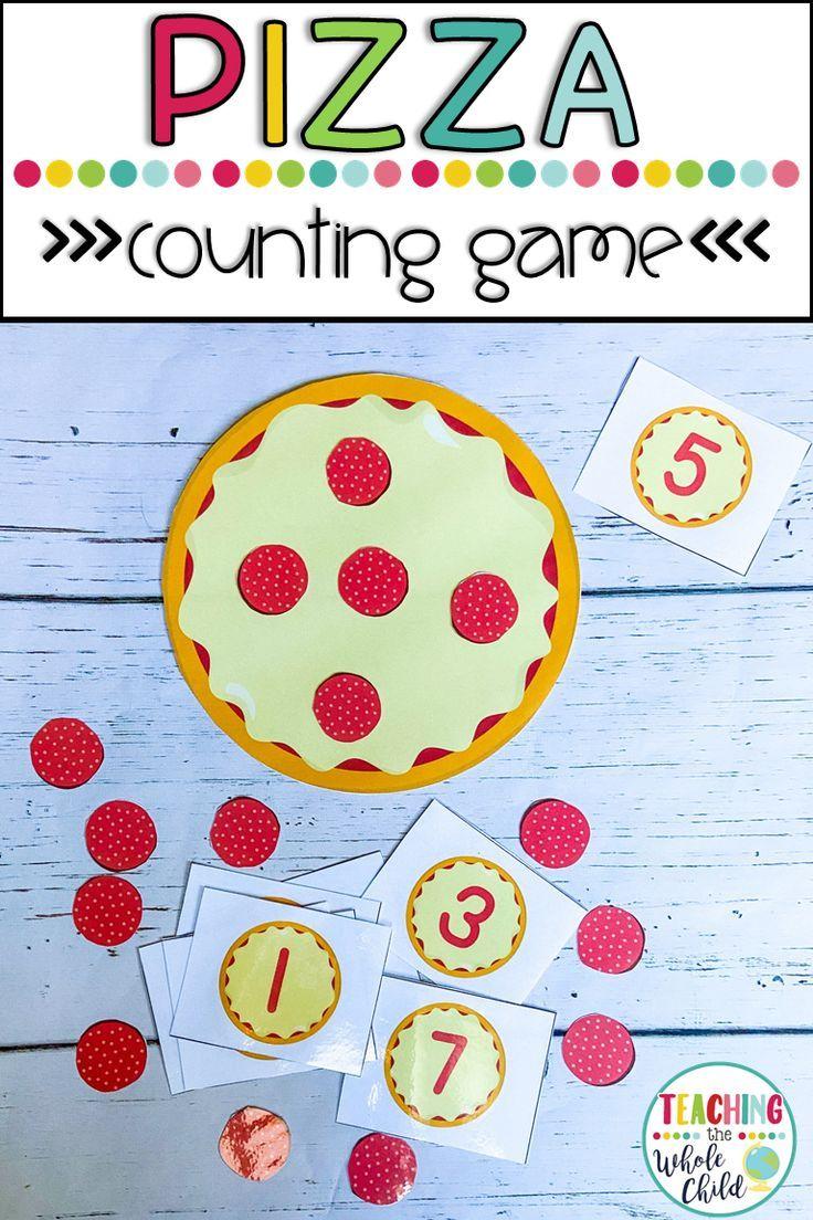 Preschool Pizza Numbers Counting Game Printable Preschool Math Games Math Counting Games Math Activities Preschool [ 1104 x 736 Pixel ]