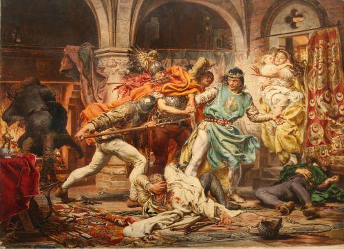 """""""Śmierć króla Przemysła II""""   by Jan Matejko   1875"""