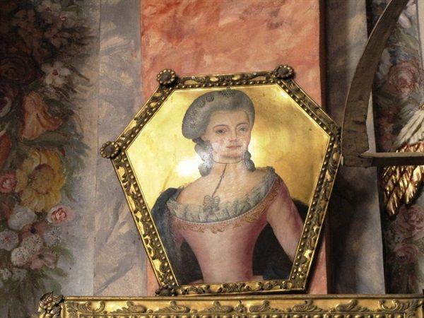 Wschowa - Kościół oo. franciszkanów-.Portret trumienny córki hr.Rafała Gurowskiego,Rozalii