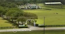 Beautiful Southfork Ranch from the air