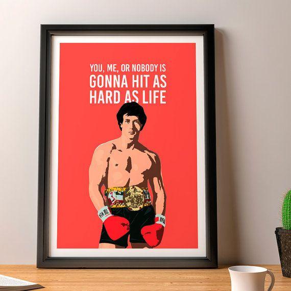 Rocky Balboa Poster, Rocky Balboa Quotes, Vector Art Print, Movie Poster,  Cult Original Art Poster Print, Illustrations, Typography
