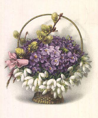 bumble button: violets