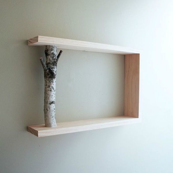 Forest to Wood Shelf. Perfect decor for a cabin ....... More Amazing #Bookshelf and #Woodworking Projects, Tips & Techniques at ►►► http://www.woodworkerz.com
