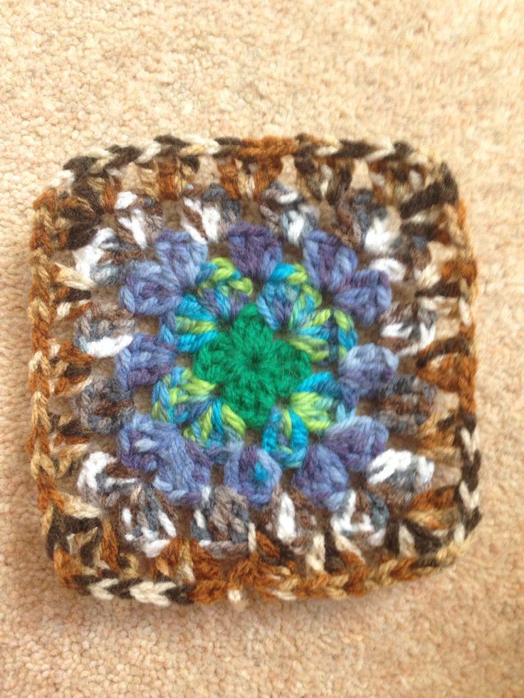 Multi colour granny square