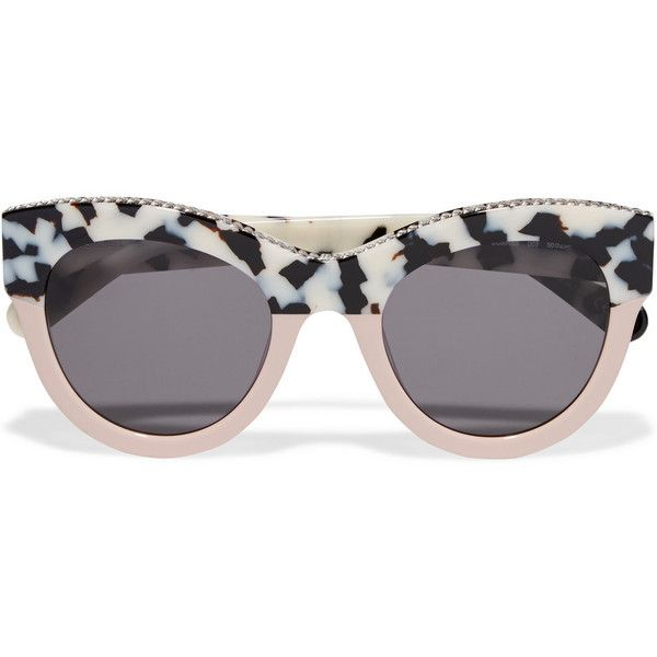 8b41c4d3d4b Stella McCartney Chain-trimmed cat-eye acetate sunglasses (12