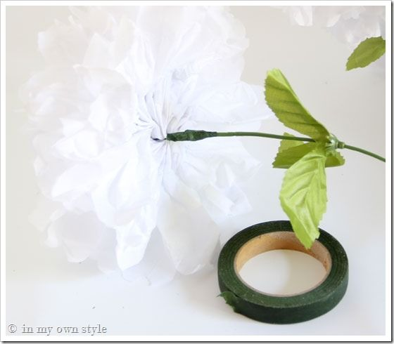 Transform Fake Flowers To Look Real Tape Tissue Paper