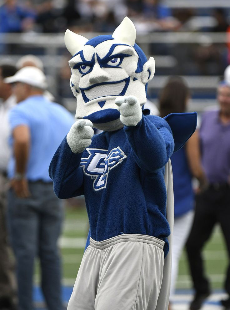 https://flic.kr/p/C7WcJ7 | CCSUfootball-BR-100817_5730 | 10/7/2017 Mike Orazzi | Staff The CCSU mascot during at Saturday's football game with the Penn Quakers in New Britain.