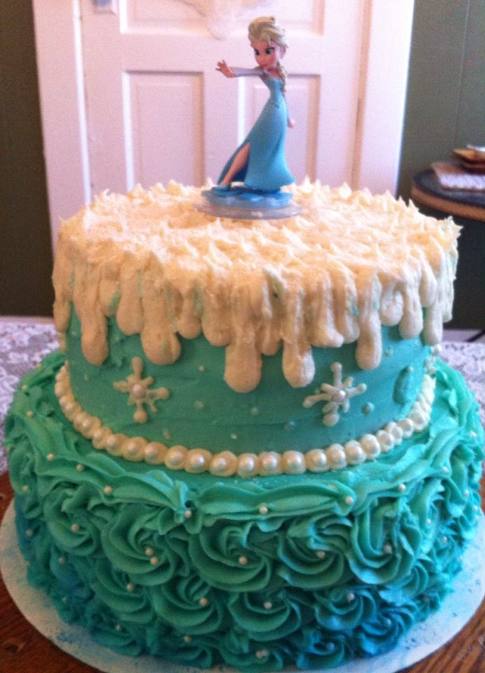 Frozen 2 tier Birthday Cake