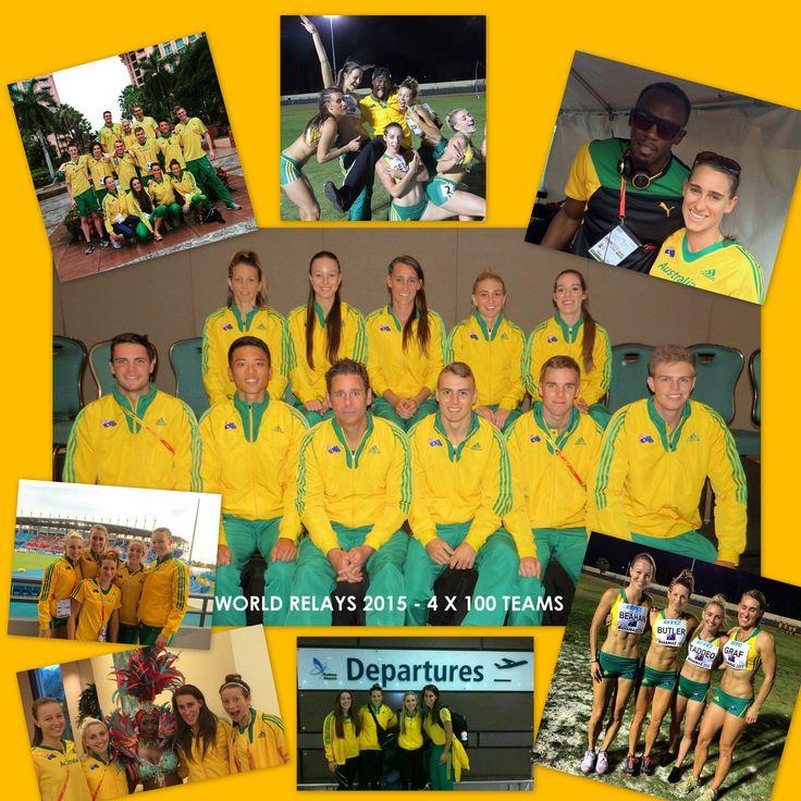 #WorldRelays2015 were #bahamazing #relayamazing Rocked the #greenandgold with #teamaustralia from Athletics Australia #Pride #Mateship #Passion #4x100 #relays #TrackAndField #bahamas #usainbolt #jamaica