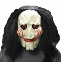 Jigsaw mask from Saw movie series