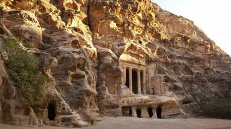 The relics of Nabataean society extend beyond Petra's core archaeological site – such as this tomb, in nearby Little Petra. Photo by Mark Read