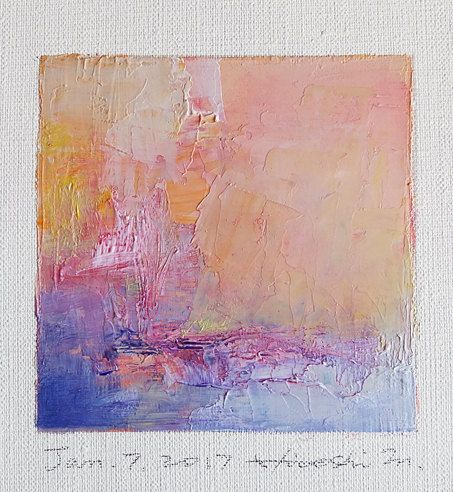 Jan. 7 2017 Original Abstract Oil Painting by hiroshimatsumoto