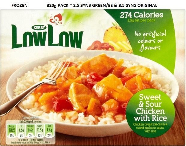 Low Low Frozen Foods Slimming World Syn Value